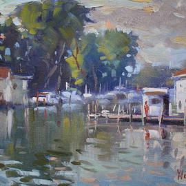 The End of a Beautiful Day by the Boat Houses - Ylli Haruni