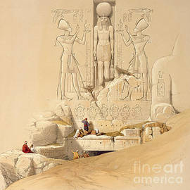 David Roberts - The Entrance to the Great Temple of Abu Simbel
