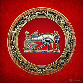 The Eye Of Horus On Red