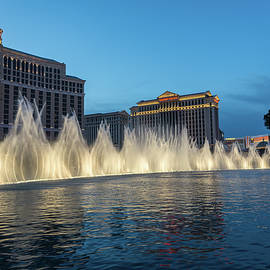 The Fabulous Fountains At Bellagio - Las Vegas by Georgia Mizuleva