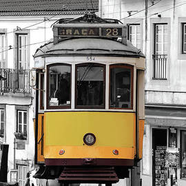 The famous tram 28 in Lisbon. by Adam Zoltan