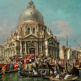 Francesco Zanin - The feast of the Madonna Della salute in Venice