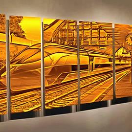 The Five Past Eleven Train by Mario Carini