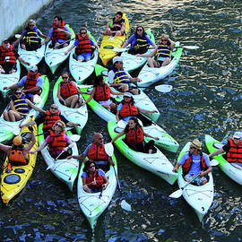 The Folks - Chicago Kayakers by Frank Romeo