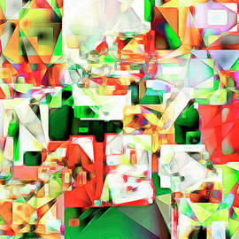 Wingsdomain Art and Photography - The Football Quarterback in Abstract Cubism 20170328 square