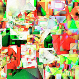 Wingsdomain Art and Photography - The Football Quarterback in Abstract Cubism 20170328