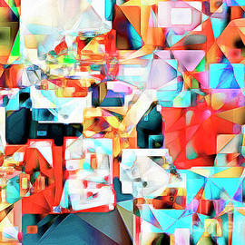 Wingsdomain Art and Photography - The Football Quarterback in Abstract Cubism 20170328c2