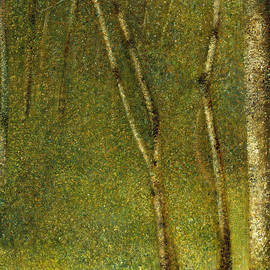Georges Pierre Seurat - The Forest at Pontaubert, 1881