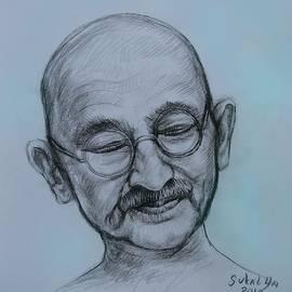 The Gandhi Head by Sukalya Chearanantana