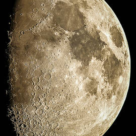 The Gibbous Moon by Randy  Flynn