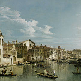 Giovanni Antonio Canal - The Grand Canal in Venice from Palazzo Flangini to Campo San Marcuola