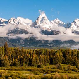 The Grand Tetons Panorama - Grand Teton National Park Wyoming by Brian Harig