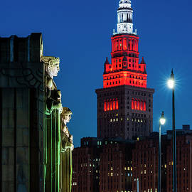The Guardians And Terminal Tower by Clint Buhler