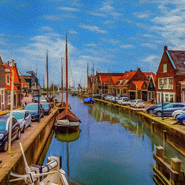 Paul Wear - The Harbour at Monnickendam