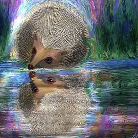 Thirsty Hedgehog by Liliana Pop Schroffel