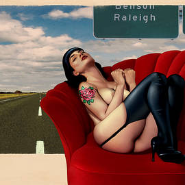 The Highway Pinup by Udo Linke