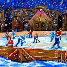 The Hockey Rink by Carole Spandau