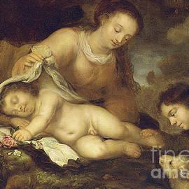 The Holy Family with Infant Saint John the Baptist - Jurgen Ovens