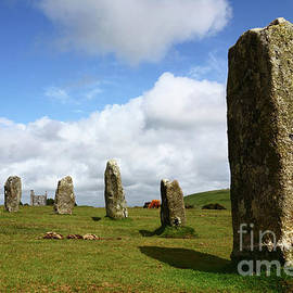The Hurlers Stone Circle Bodmin Moor Cornwall by James Brunker