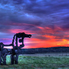 Reid Callaway - The Iron Horse Panorama Sunrise Georgia Farm Art