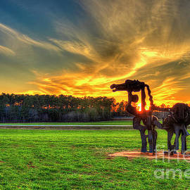 The Iron Horse Sunset 7 The Iron Horse Collection Art by Reid Callaway