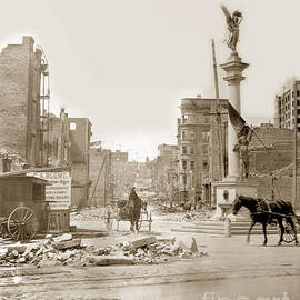 The James D. Phelan monument  San Francisco after the 1906 Earthquake by California Views Archives Mr Pat Hathaway Archives