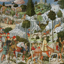 The Journey of the Magi to Bethlehem - Benozzo di Lese di Sandro Gozzoli