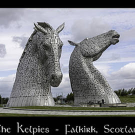 The Kelpies Tryptich by Teresa Wilson