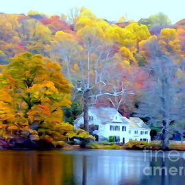 Ed Weidman - The Lake House In Fall