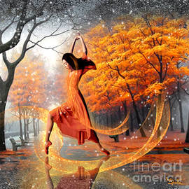 The last dance of autumn - fantasy art  by Giada Rossi