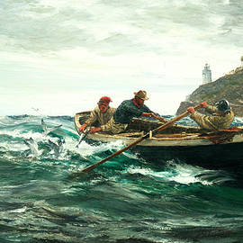Charles Napier Hemy RA - The Lighthouse