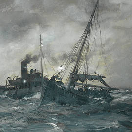 The Liverpool tug Calgarth - Montague Dawson