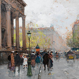 Eugene Galien-Laloue - The Madeleine, Paris
