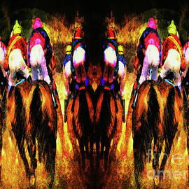 Tina LeCour - The Magnificent Riders Abstract