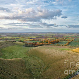 The Manger At Uffington In Autumn by Tim Gainey