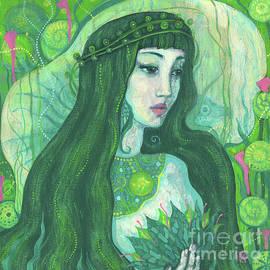 Green Mermaid, Imaginary Portrait, Fantasy Art by Julia Khoroshikh