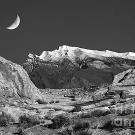 The Moon and the Mountain Range by Mike Nellums