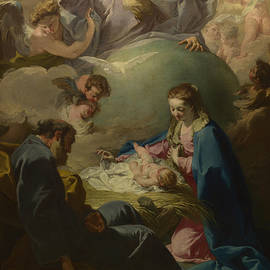Giovanni Battista Pittoni - The Nativity with God the Father and the Holy Ghost