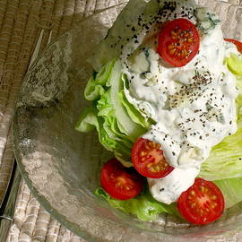 James Temple - The NEW Classic Iceberg Wedge Salad with Chunky Blue Cheese/Dill Dressing