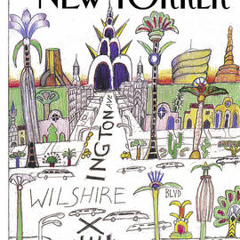 The New Yorker Cover - February 13th, 1995 by Saul Steinberg
