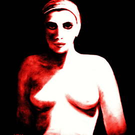The Nude - RED- STOP FEMICIDE by VIVA Anderson