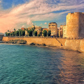The Old Fortress at Alghero by Dominic Piperata