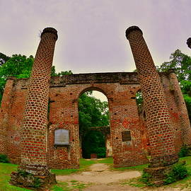 The Old Sheldon Church Ruins 7 by Lisa Wooten