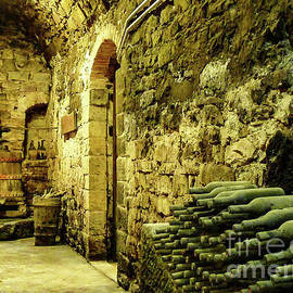 Old Tuscan Winery Cellar by Norma Brandsberg