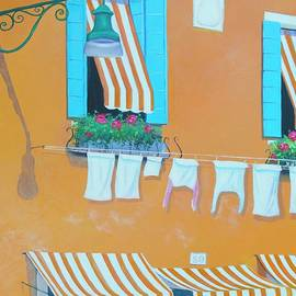 Jan Matson - The orange house in Burano, Venice