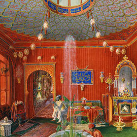 German School - The Oriental room in Villa Lazarovich, Trieste residence of Maximilian of Habsburg