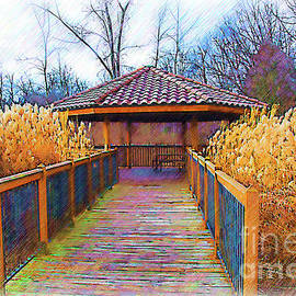 Kirt Tisdale - The Pavilion By The River Sketched