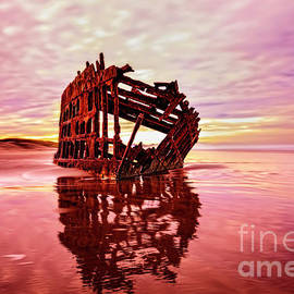 Peter Iredale Fantasy by Kay Brewer
