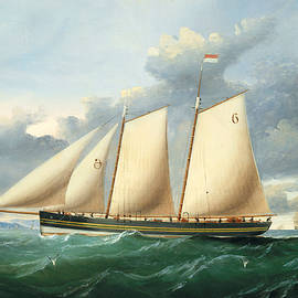 The Pilot Schooner Pioneer off Point Lynas - Charles Ogilvy