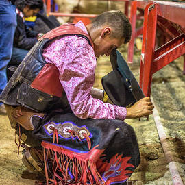 The Cowboy Prayer Before the Rodeo by Rene Triay Photography